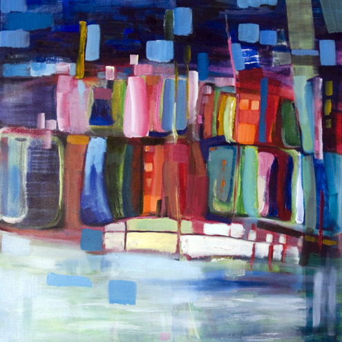 Harbour houses by Angie Kenber